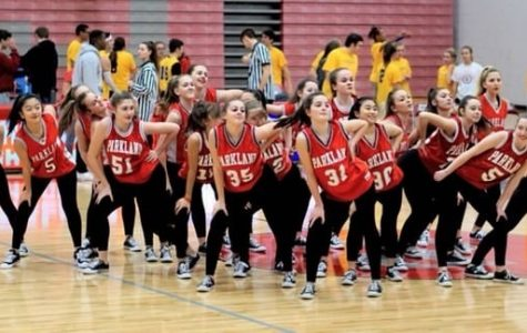 These pictures include both JV  and varsity performing at a basketball game together last year. Photos taken by Steven Lee.