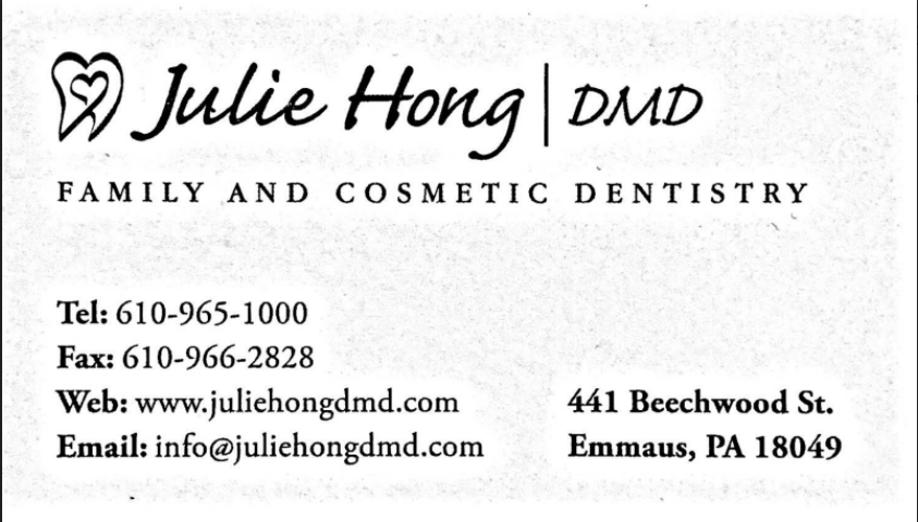 We Are Proudly Sponsored by Julia Hong Family and Cosmetic Dentistry