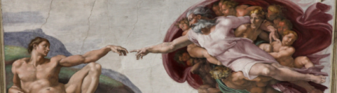 "Photo from commons.wikimedia.org; Pictured is ""The Creation of Adam"" by Michelangelo"