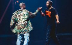 This image shows Kanye and Drake at Drakes OVO Fest. In where Drake and Kanye performed in where Kanye was a surprise guest.